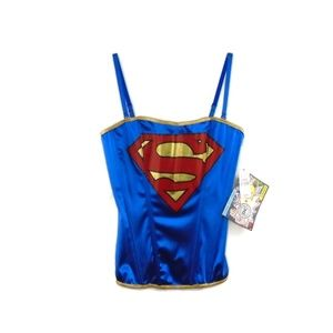 Superman Corset NWT XL Removable Straps Cosplay